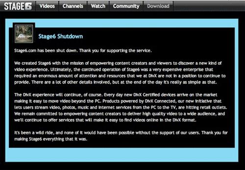 stage6 shutdown